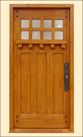 popular bungalow door detailing