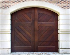 carriage house doors with diagonal planking