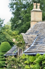 English cottage chimney pots