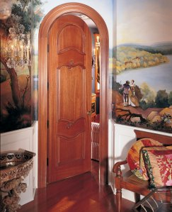 French country paneled door
