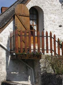 cottage door with glass above