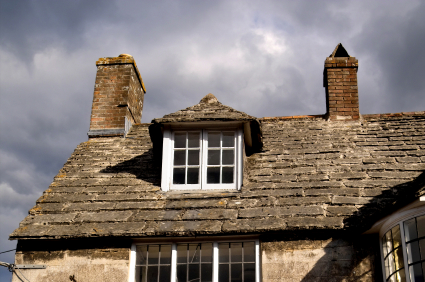 Typical English cottage dormer with double casement windows