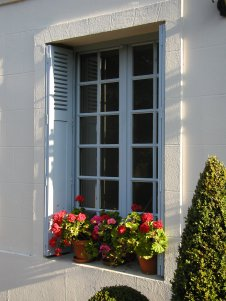 Authentic French casement window with shutter