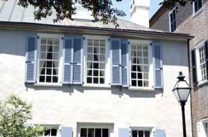 Traditional Charleston style wood shutters by Withers Custom Made Shutters